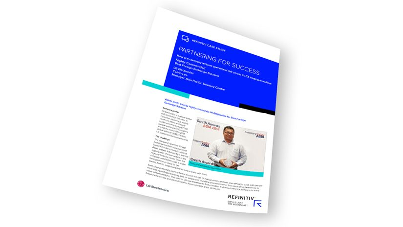 Report cover of LG Electronics reduces operational risk across its FX trading workflow.