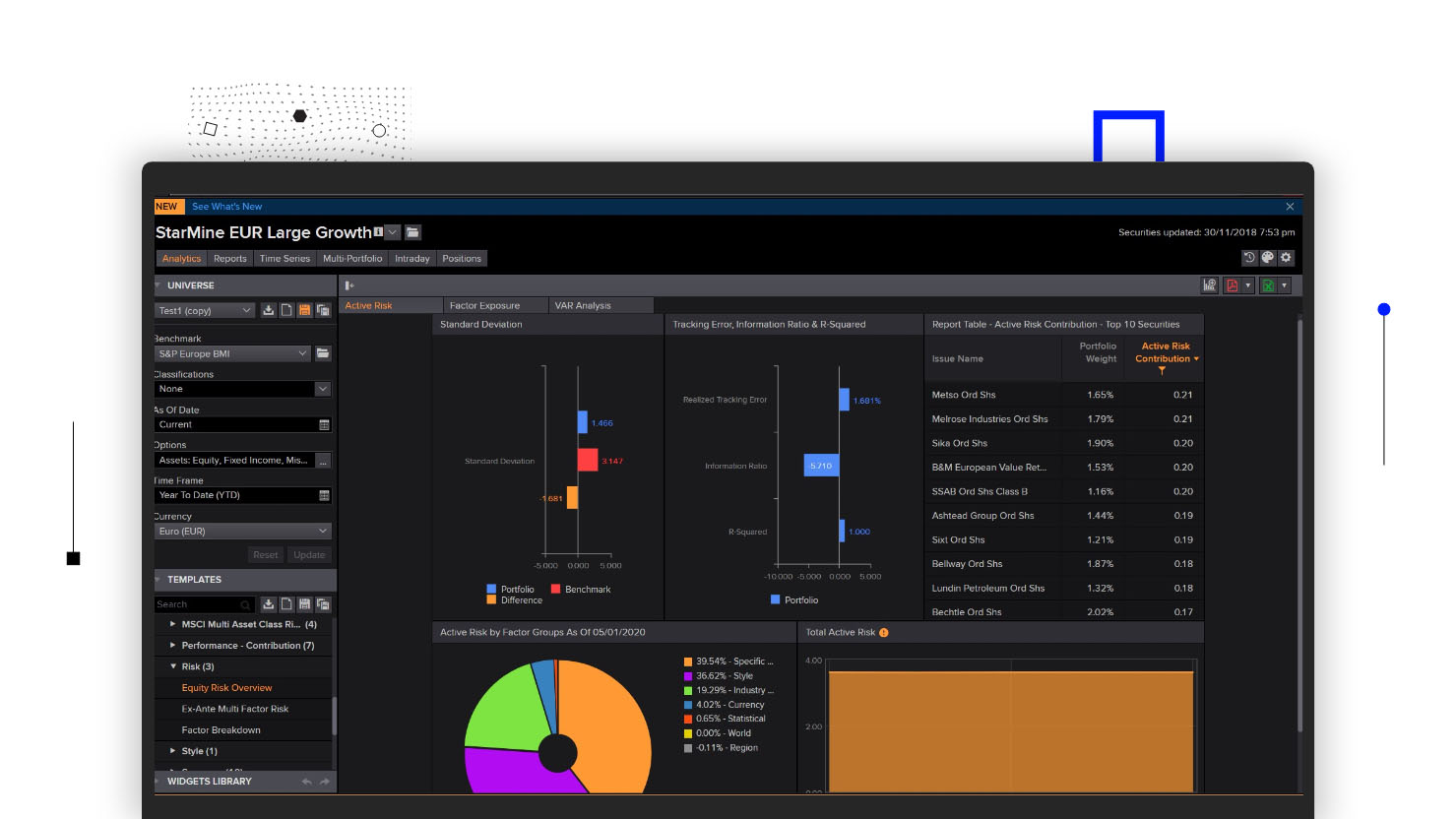 Eikon for Portfolio Management and Analysis   Refinitiv