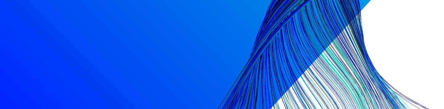 Blue wires twisting in graphical artwork