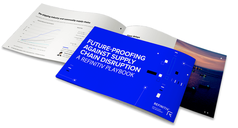 Cover of Refinitiv playbook with focus on supply chain disruption