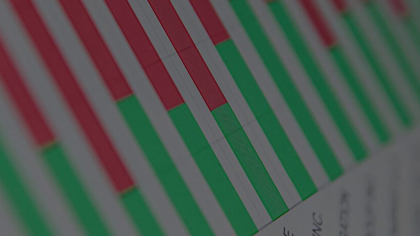 Red and green blocks of graph data