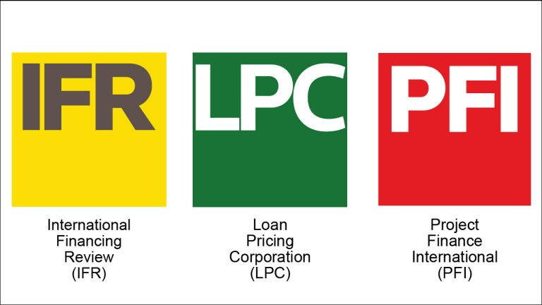 Logos for Capital Markets Insight three product families: IFR, LPC, and PFI