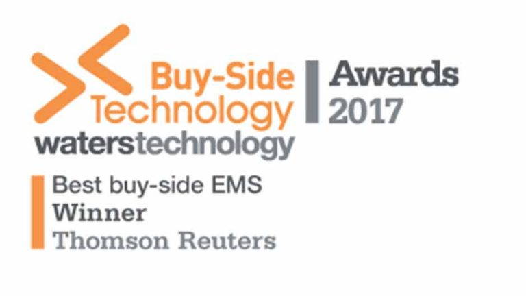 Buy side technology awards 2017 - Best buy-side EMS winner, Thomson Reuters