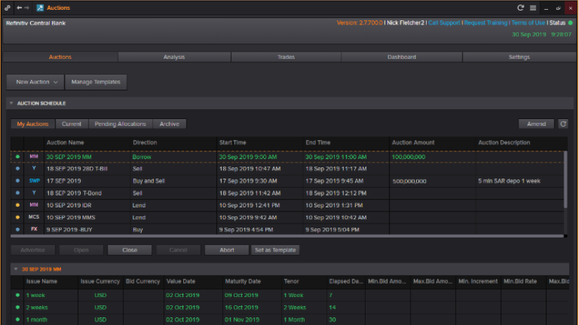 Data from eikon displaying data residency and infrastructure costs