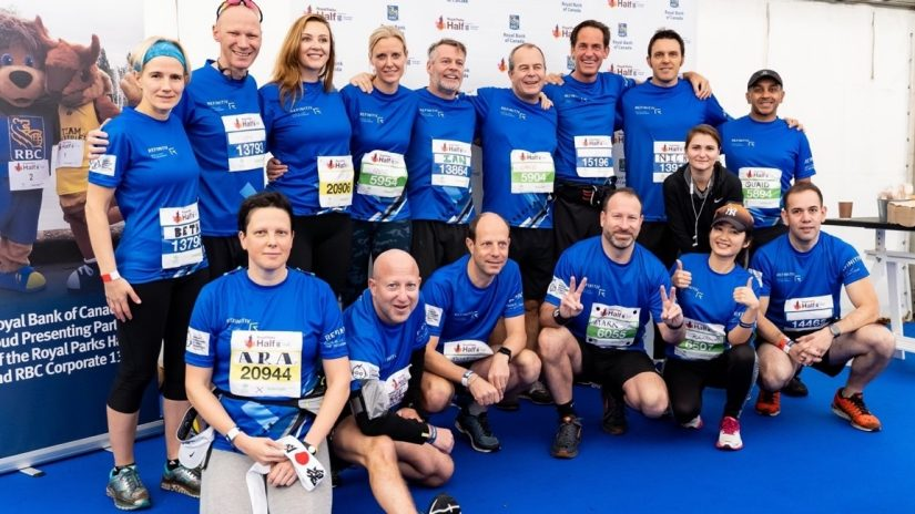Image of Refinitiv employees participating in the Royal Parks Half Marathon