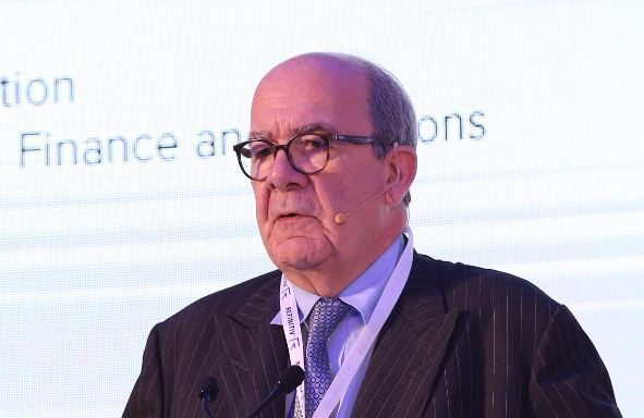 Hans-Peter Bauer speaking at the 13th MENA financial crime summit