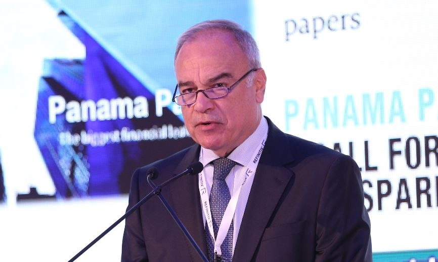 Abdul Hafiz Mansour speaking at the 13th MENA financial crime summit