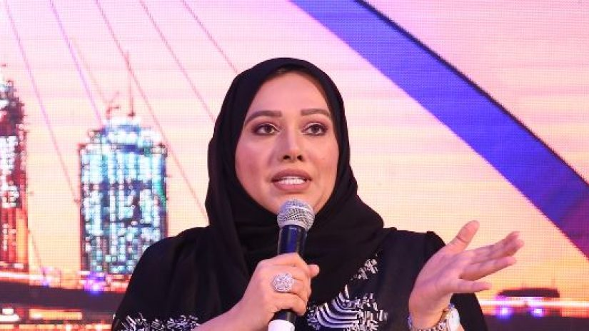 Maryam Al Suwaidi speaking at the 13th MENA financial crime summit