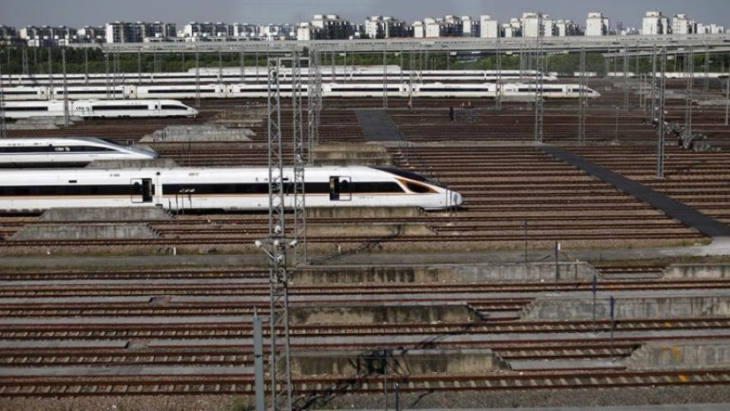 Chinese commuter trains