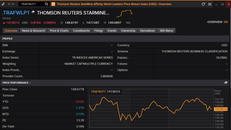Thomson Reuters Starmine overview screenshot