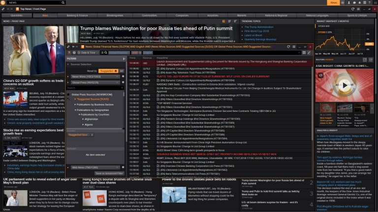 screenshot of news in Eikon