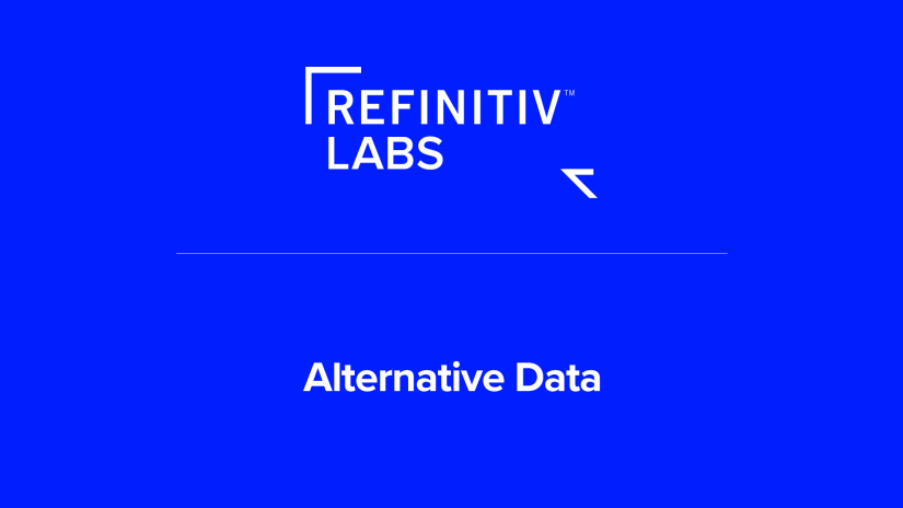Refinitiv Labs Alternative Data poster image