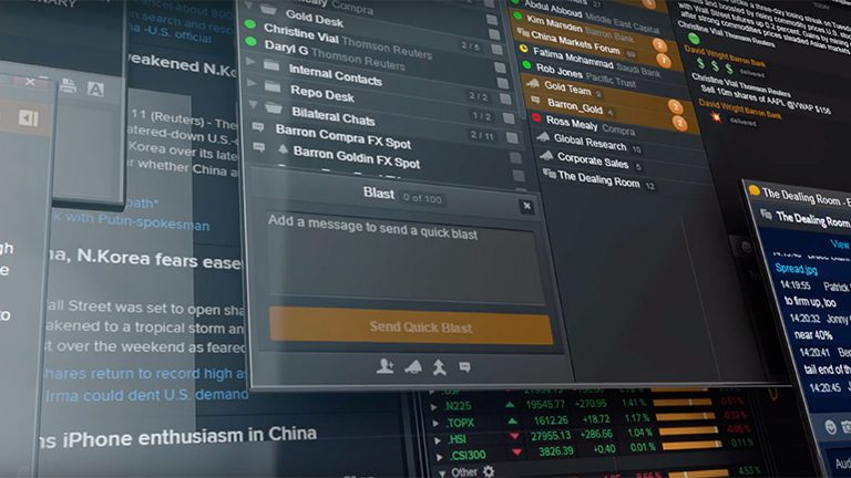 Video overview of Eikon Messenger
