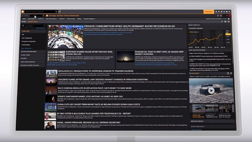 Screenshot of Eikon news