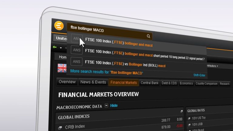 A screenshot from the Eikon Answers video.