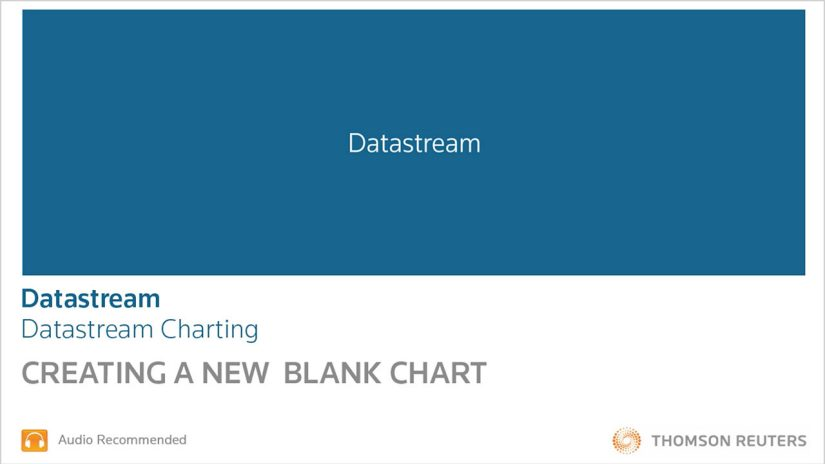 Datastream - creating a new blank chart training and support video screenshot