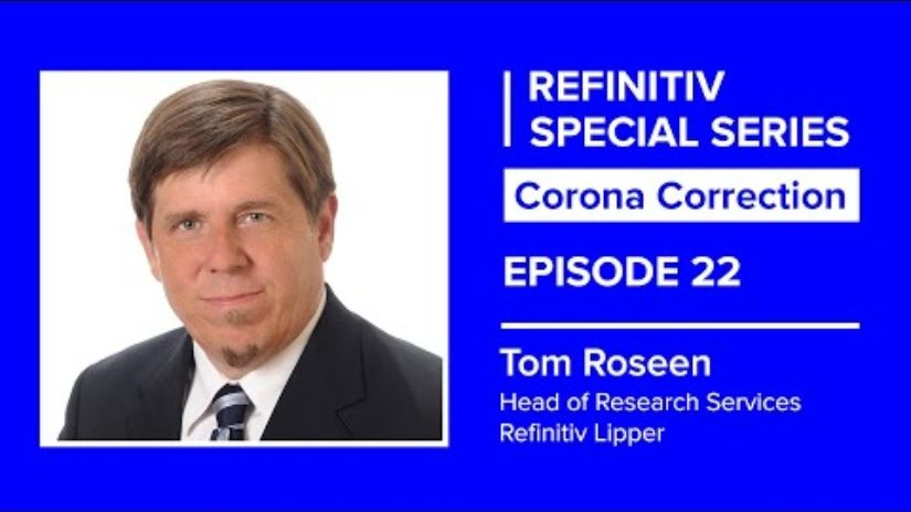 Tom roseen on a blue background. The words corona correction episode 22 sit to his left