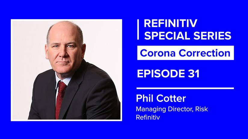 Phil Cotter on a blue background. To his left reads Corona correction episode 31