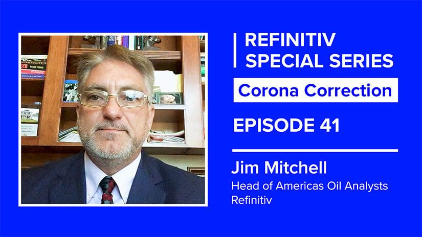 Jim Mitchell headshot on a blue background. To his lef tit reads corona correction episode 41