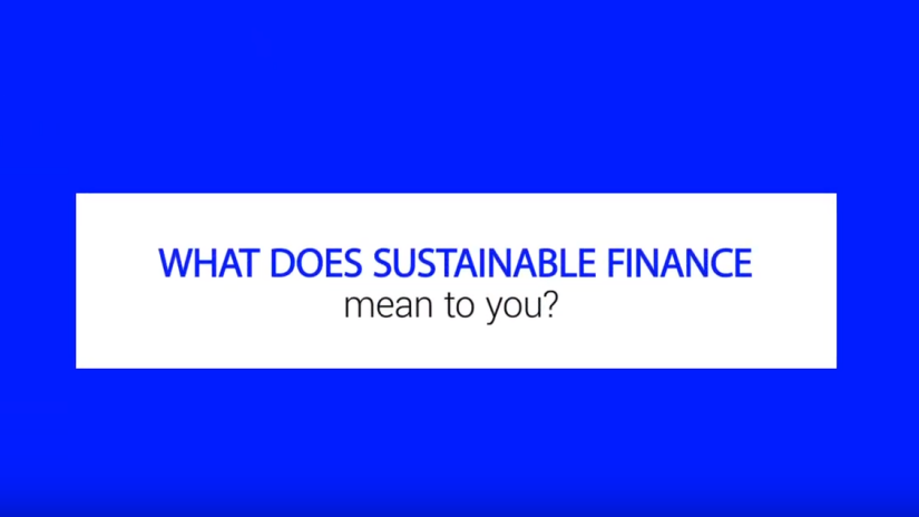 What does sustainable finance mean to you?