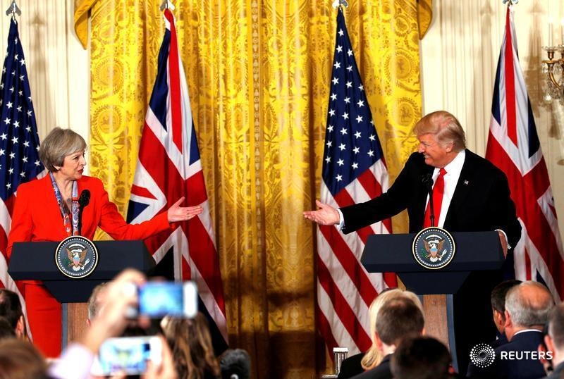 President Trump and Theresa May