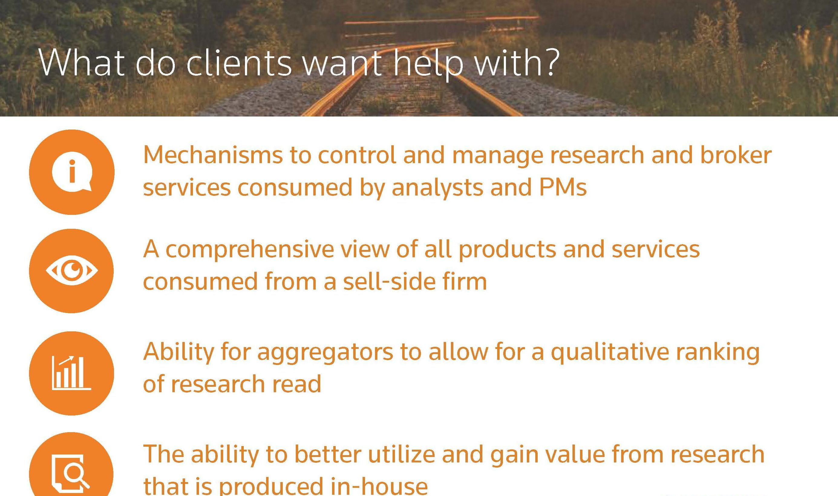 What do clients want help with?