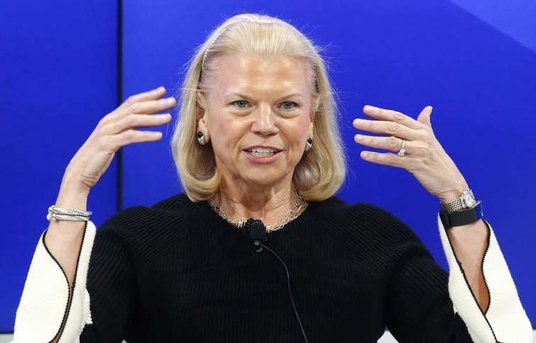 Ginni Rometty, Chairman and CEO of IBM and Co-Chair of the 2018 World Economic Forum (WEF), attends the annual meeting of the WEF in Davos, Switzerland, January 17, 2017.