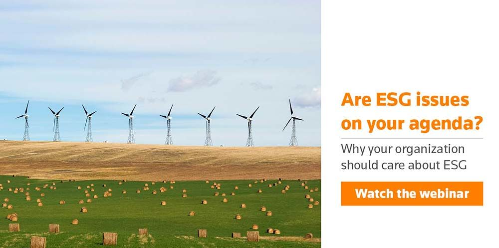 Watch the webinar: Why should your organisation care about ESG?