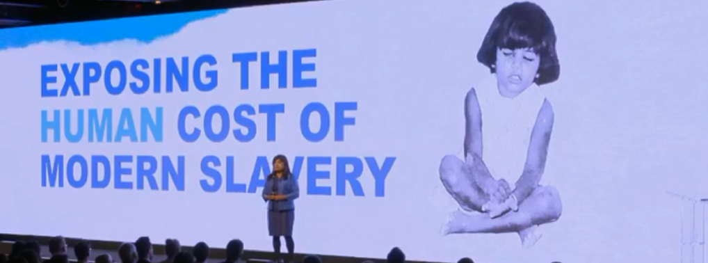 Rani Hogg spoke about her own experiences and the horrors of modern slavery
