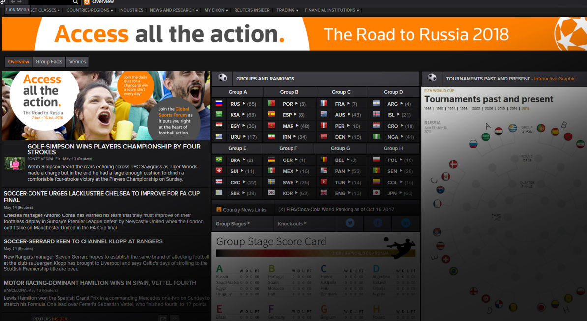 Access all the action. The Road to Russia 2018