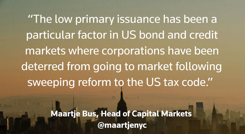 Maartje Bus quote 1. Debt capital markets: No panic as the 'old normal' returns