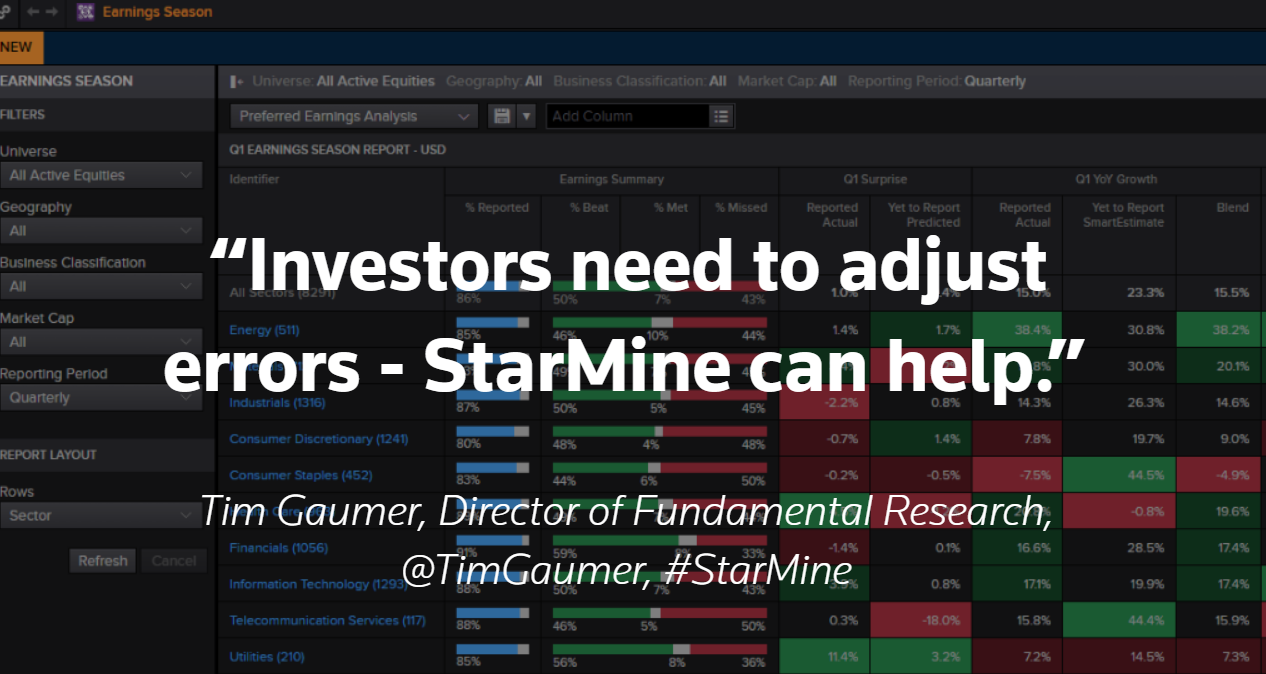 Investors need to adjust for analyst errors – StarMine can help