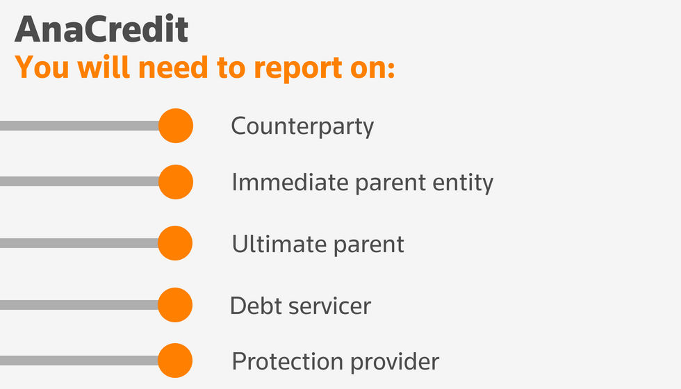 AnaCredit: You will need to report on...