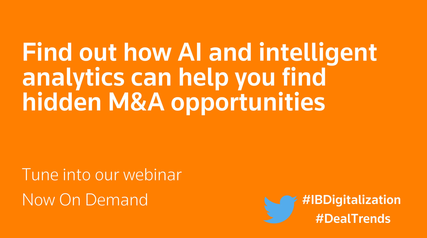 Find out how AI and intelligent analytics can help you find hidden M&A opportunities