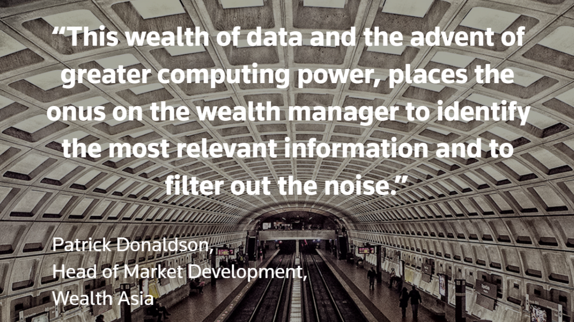 A new model for digital wealth management. Patrick Donaldson quote