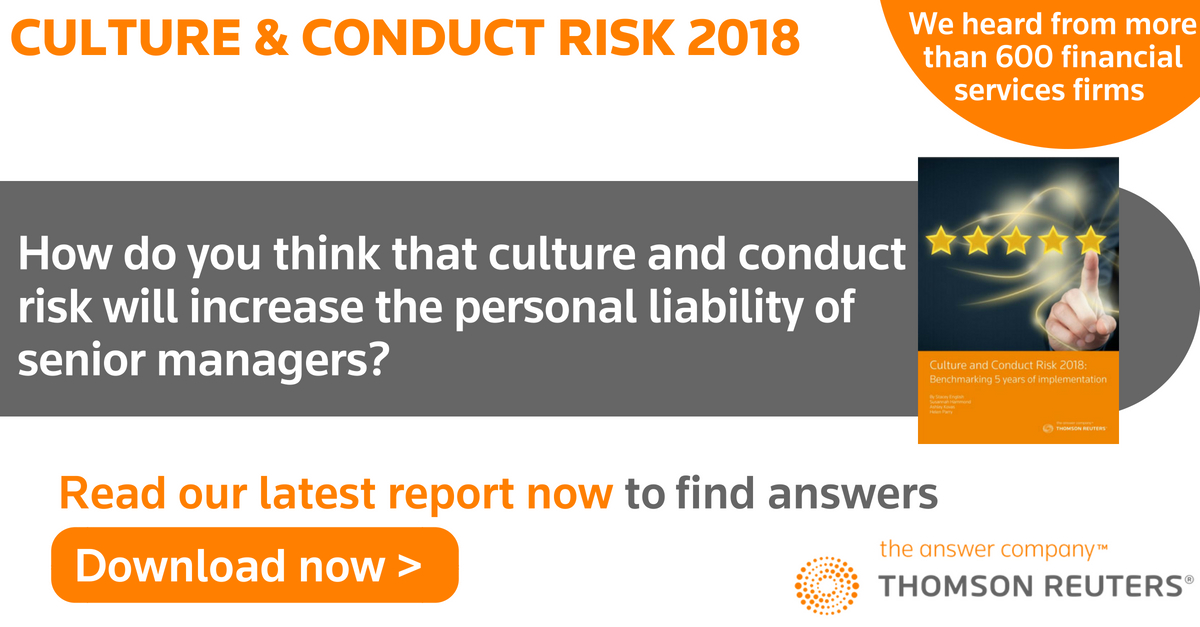 An example of a Thomson Reuters Compliance Learning Conduct Risk online training course