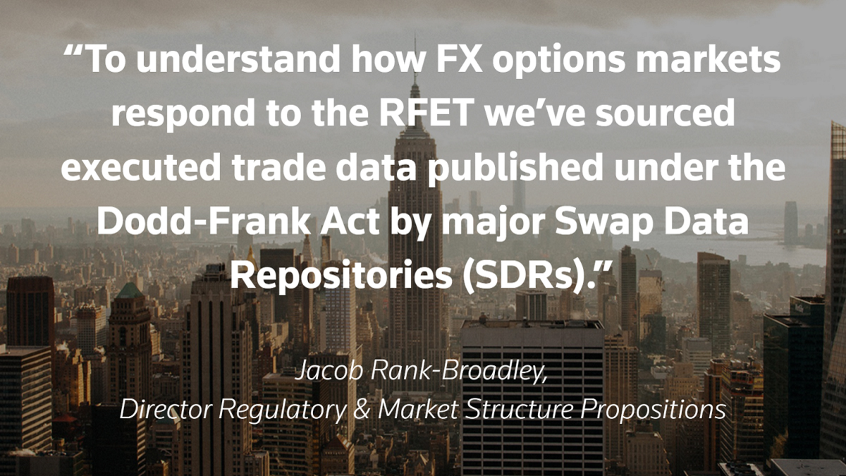 Jacob Rank-Broadley quote. The RFET: how do U.S. FX options perform?