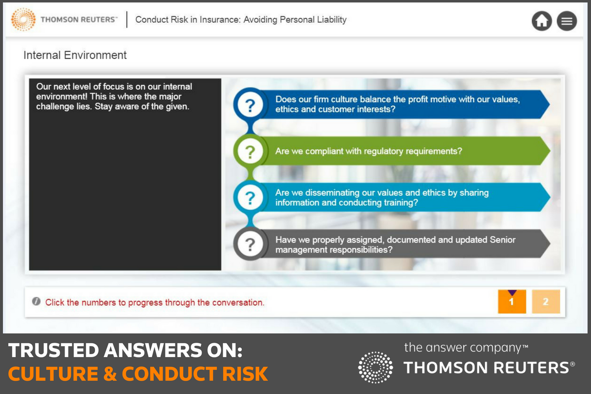 An example of a Thomson Reuters Compliance Learning online training course. Why whistleblowers are crucial to risk compliance