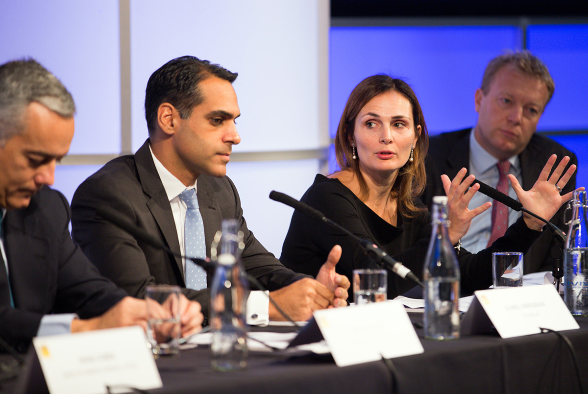 Bankers still positive on European IPOs. Luis Vaz Pinto (Société Générale), Suneel Hargunani (Citigroup), Silvia Viviano (JPMorgan), and William Smiley (Goldman Sachs) during the latest Refinitiv IFR ECM Roundtable