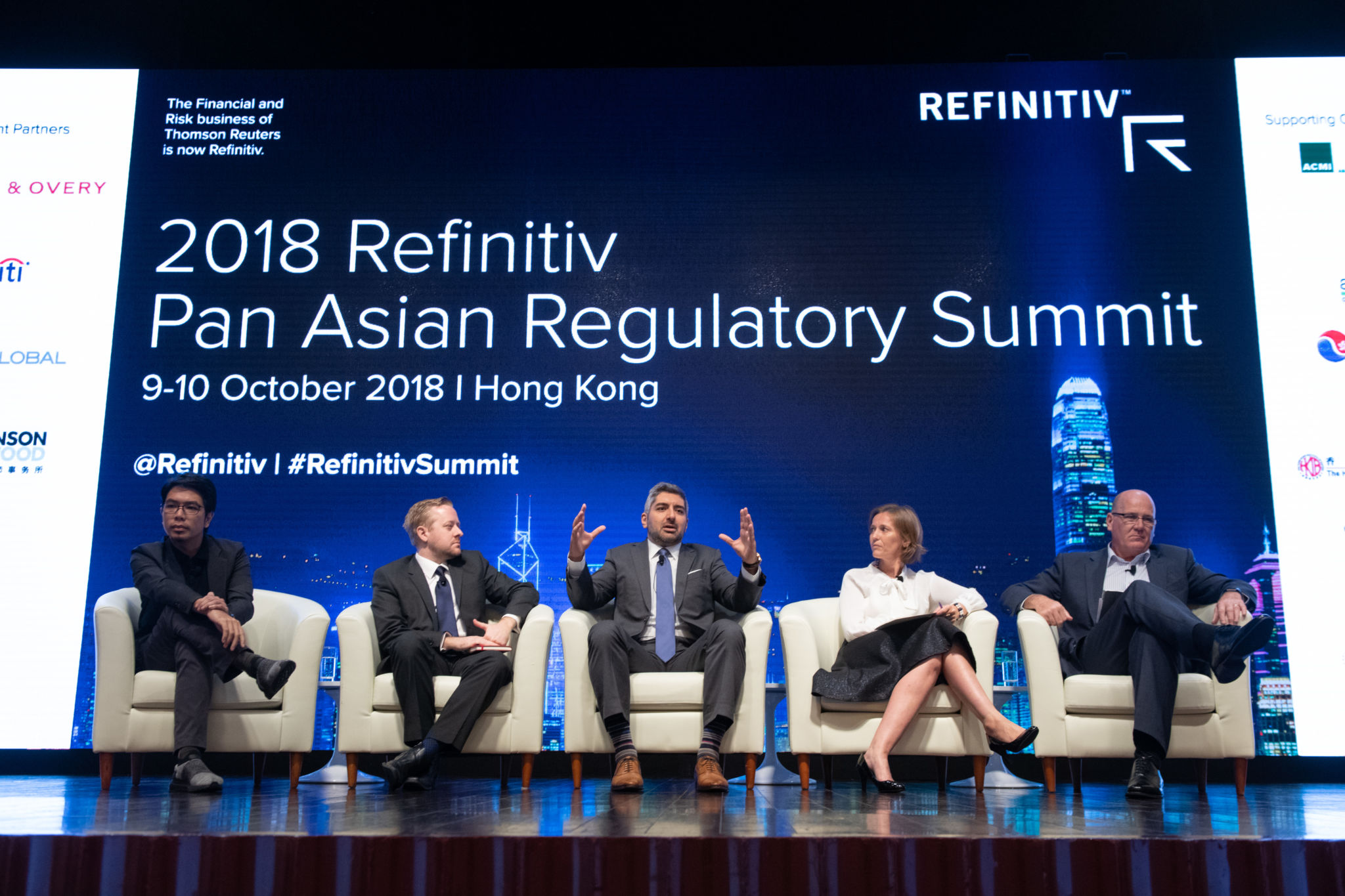 Panel discussion discussing the latest crypto regulatory and industry developments at the 2018 Refinitiv Pan Asian Regulatory Summit