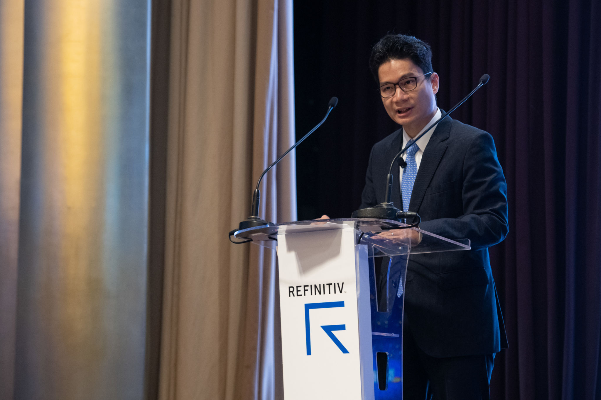 Joseph H. L. Chan, JP, Under Secretary for Financial Services and the Treasury, HKSAR, opens Day 2 of the 2018 Refinitiv Pan Asian Regulatory Summit