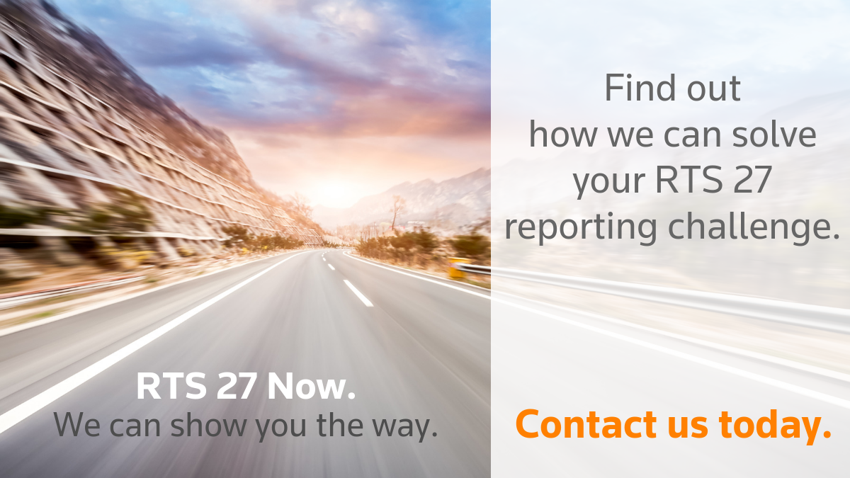 Find out how we can solve your RTS 27 reporting challenge.