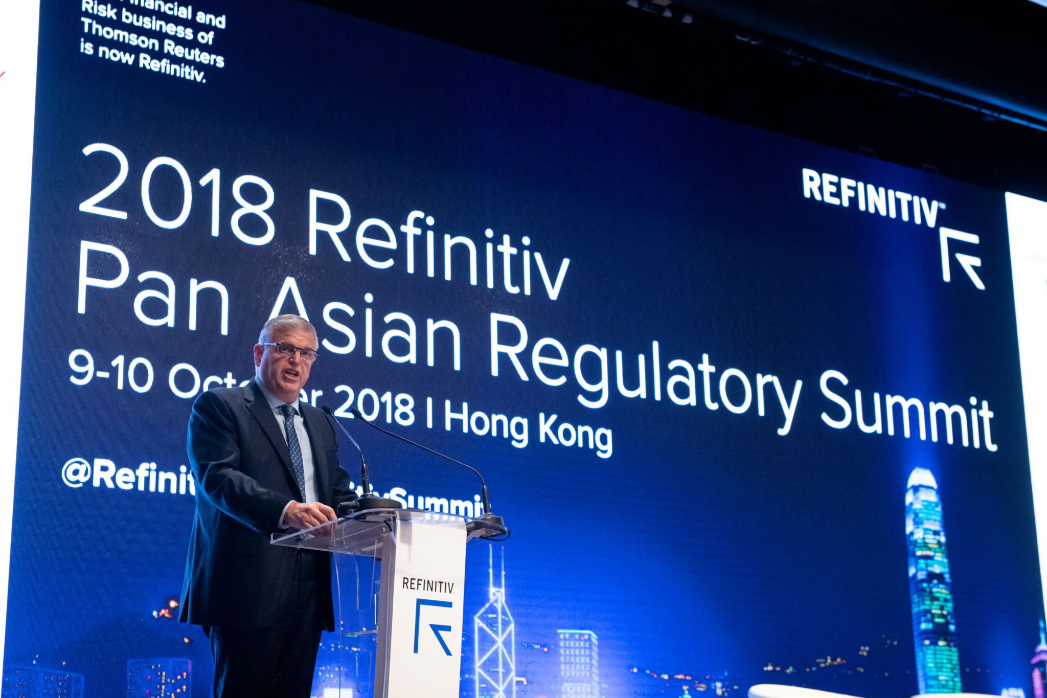 Keynote presentation by Thomas Atkinson, Executive Director of Enforcement at the SFC, during the 2018 Refinitiv Pan Asian Regulatory Summit