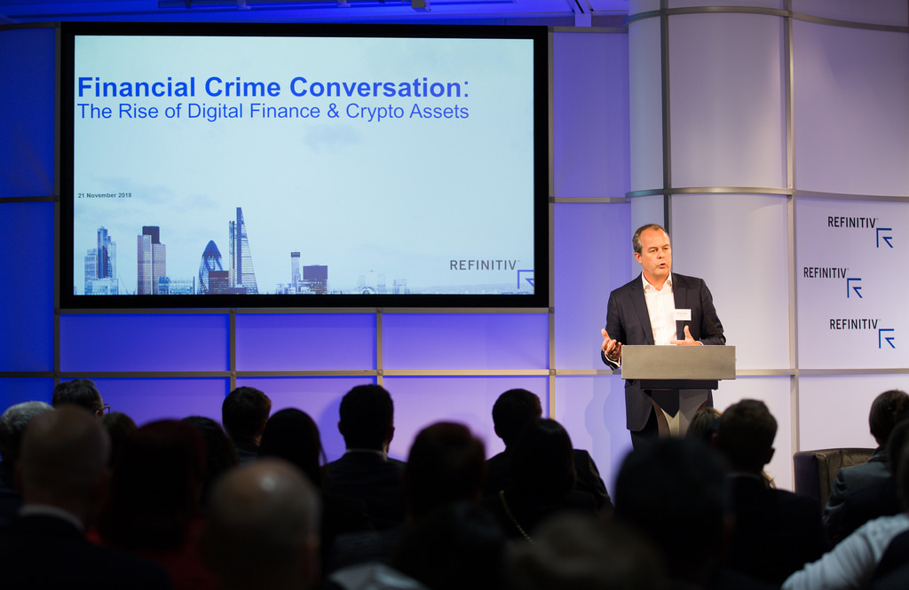 David Craig, CEO of Refinitiv, at the Financial Crime Conversation. Crypto assets and fighting financial crime