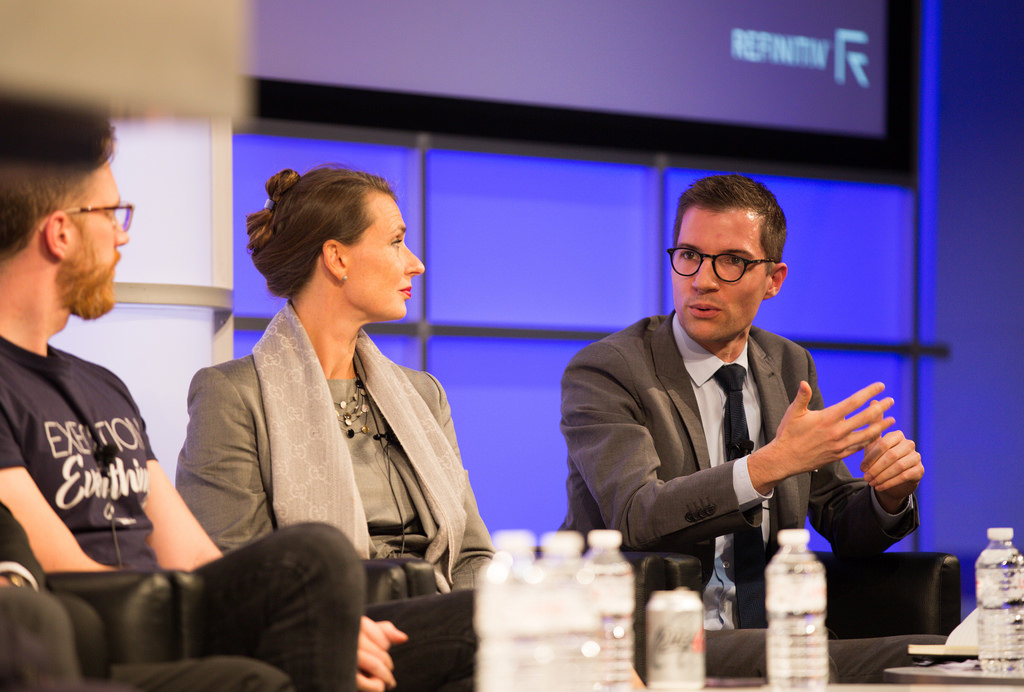 (L-r) Simon Taylor Founder, Global Digital Finance, Vivien Artz Chief Privacy Officer, Refinitiv, and Olivier Kraft Research Fellow, Royal United Services Institute (RUSI). Crypto assets and fighting financial crime