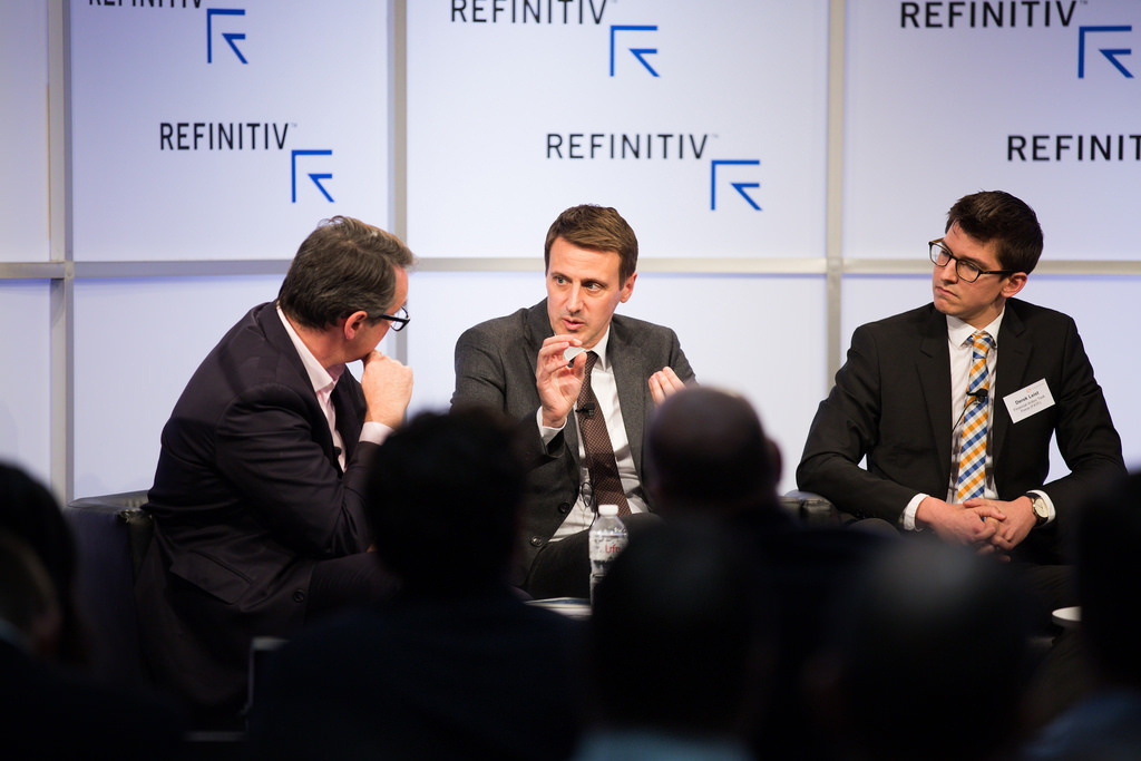 (L-r) Moderator Axel Threlfall Editor at Large, Reuters, Simon Riondet, Head of Financial Intelligence, Europol, and Derek Leist Policy Analyst, Financial Action Task Force (FATF). Crypto assets and fighting financial crime
