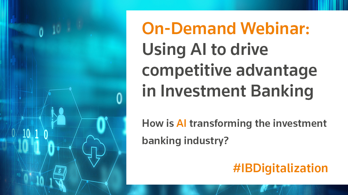 AI set to transform investment banking