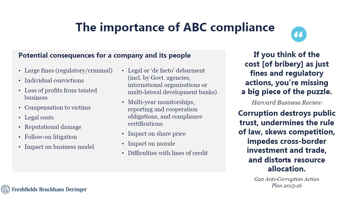 The importance of ABC compliance
