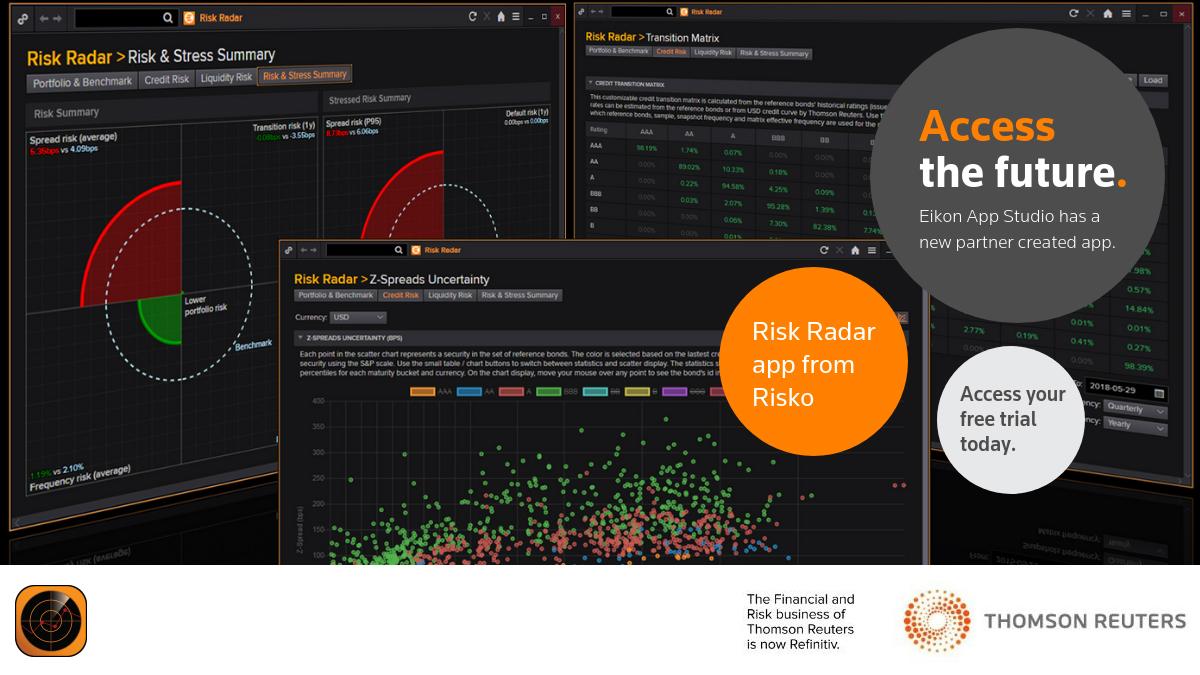Risk Radar. Eikon App Studio: 3 apps to try for free