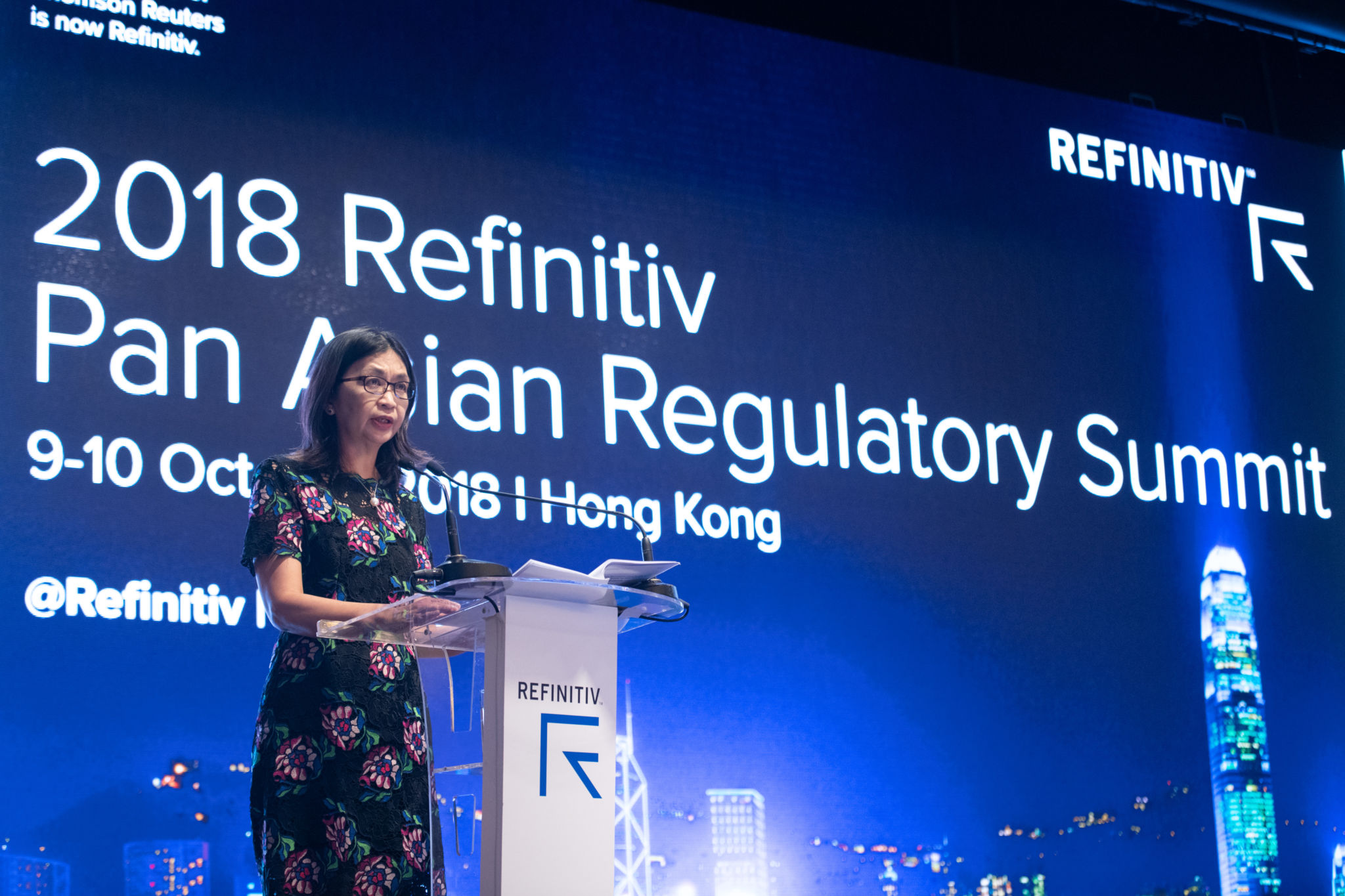 Keynote presentation by Julia Leung, Deputy CEO and Executive Director, Intermediaries, Hong Kong Securities and Futures Commission during the 2018 Refinitiv Pan Asian Regulatory Summit